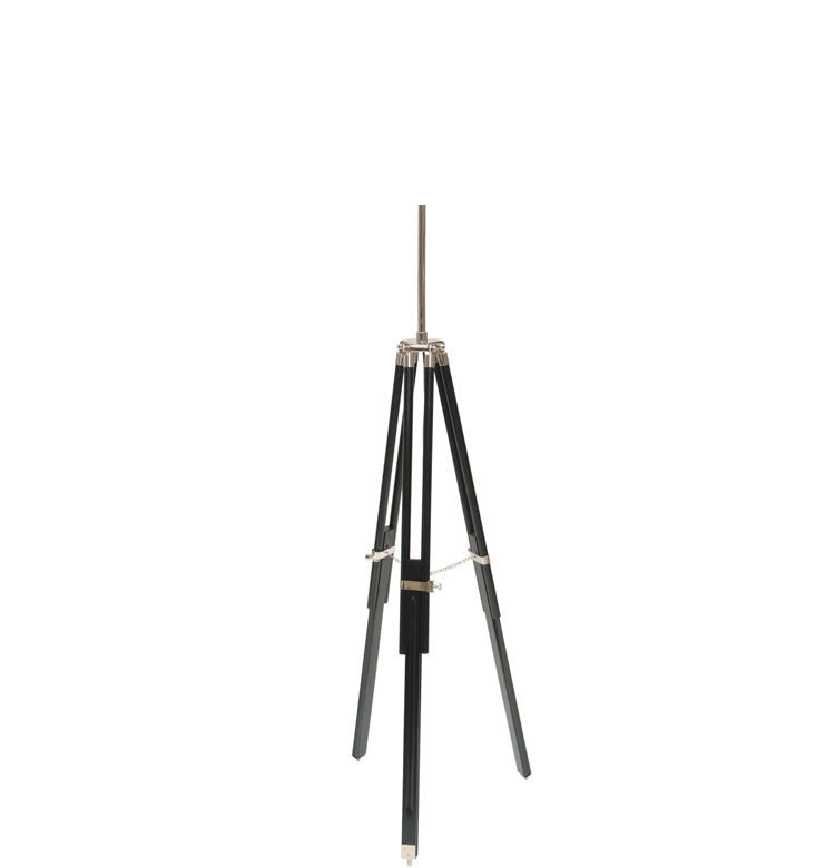 Black Wood Tripod Floor Lamp Base