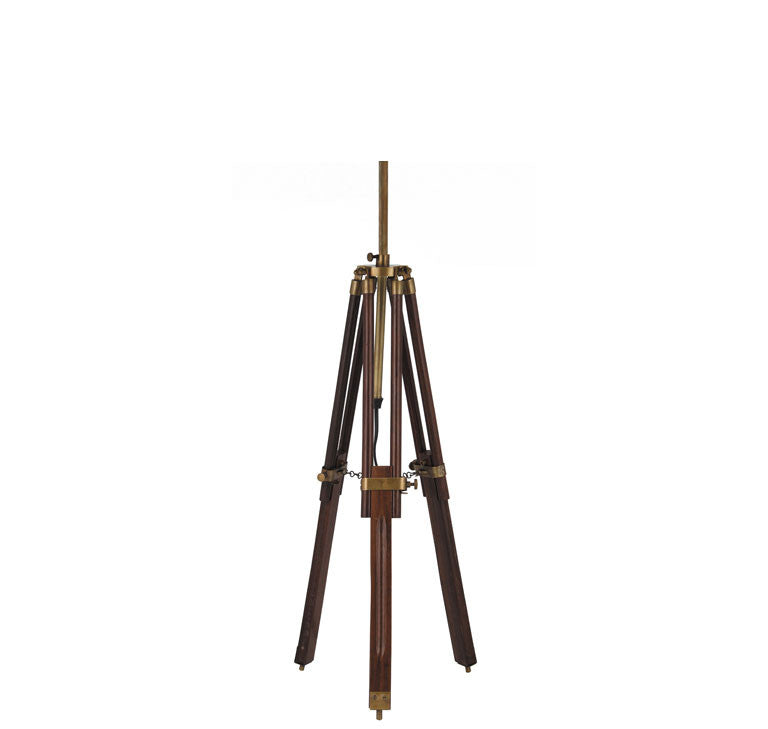 Dark Wood Tripod Table Lamp Base Only
