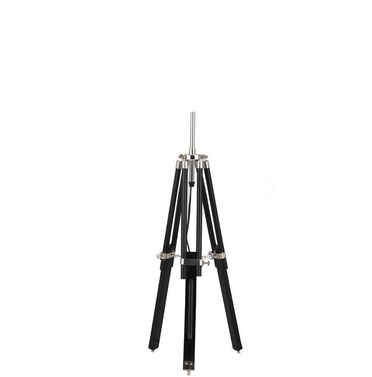 Black Wood Tripod Table Lamp Base Only