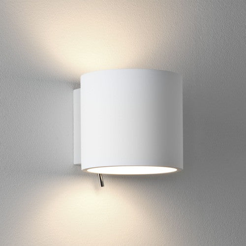 Brenta White Plaster Wall Light
