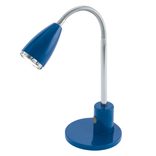 FOX LED Blue Reading Table Lamp