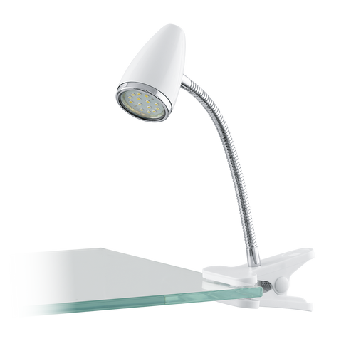 RICCIO 1 LED Clip-On White, Chrome