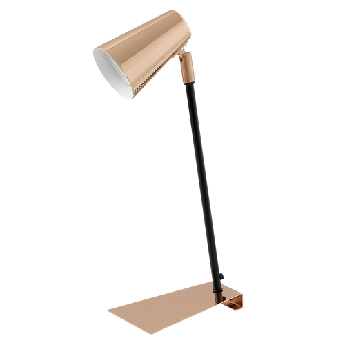 TRAVALE LED Reading Table Lamp Copper, Black