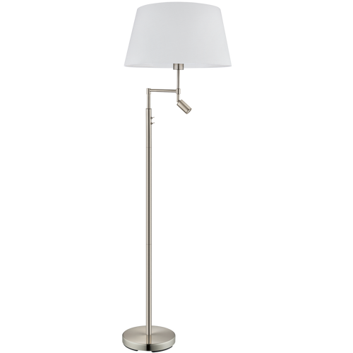 SANTANDER LED Mother & Child Floor Lamp Satin Nickel