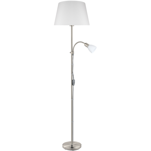 CONESA Mother & Child Floor Lamp Satin Nickel
