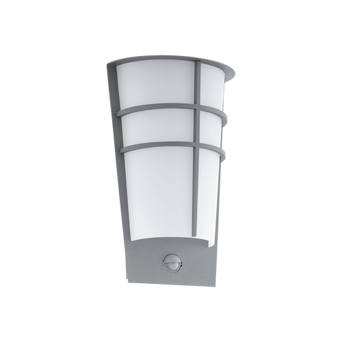 BREGANZO1 Outdoor Security LED Wall Silver