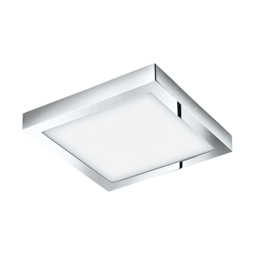 FUEVA1 LED Ceiling Light Square Chrome