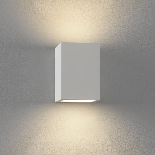Moso White Plaster Wall Light