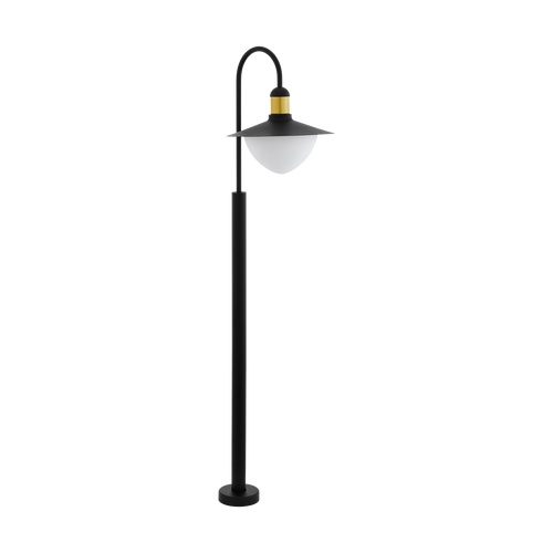 Sirmione 1 Light Outdoor Post Light Black/Gold