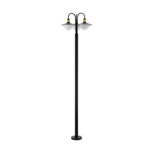 Sirmione 3 Light Outdoor Post Light Black/Gold