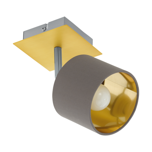 Valbiano 1 Light Wall Mounted Spotlight Cappuccino/Gold