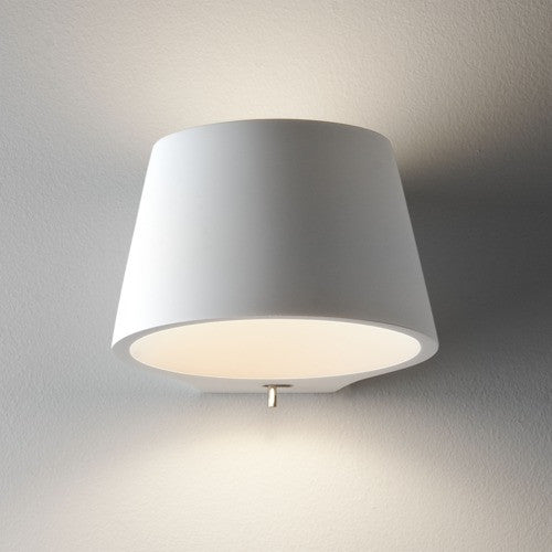Koza Switched Plaster Wall Light