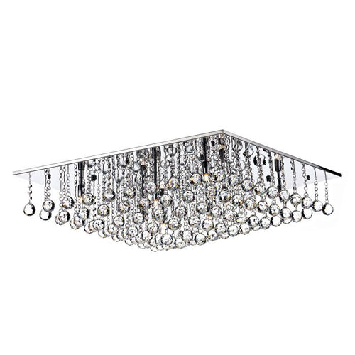 Abacus 8 Light Crystal Low Ceiling Light