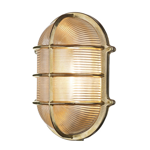 David Hunt Admiral Large Oval Brass Outdoor Wall