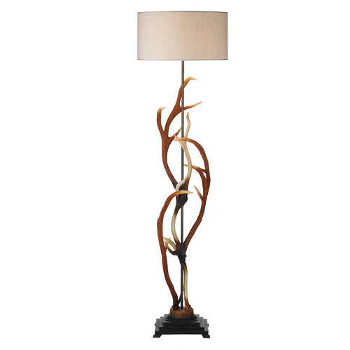 David Hunt Antler Floor Lamp with S704 Natural Shade