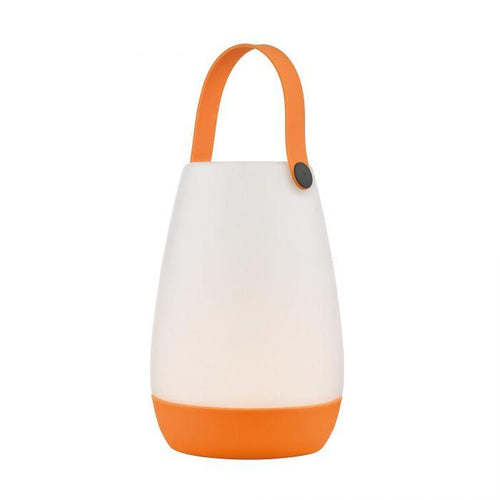 Beppe Colour Changing  LED Table Lamp Opal Acrylic, Orange Base