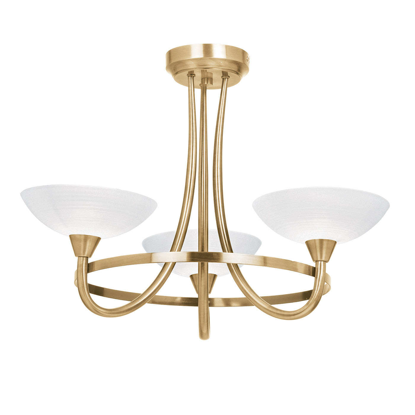 Cagney Antqiue Brass 3 Arm Ceiling Light