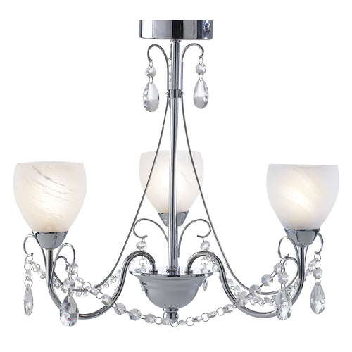 Crawford 3 Light Pendant Polished Chrome IP44