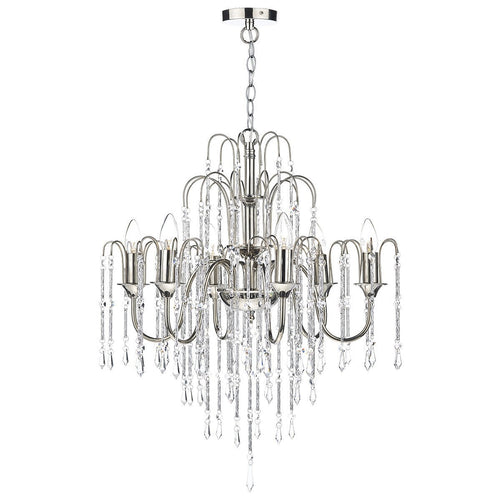 Daniella 6 Light Pendant Dual Mount Polished Nickel