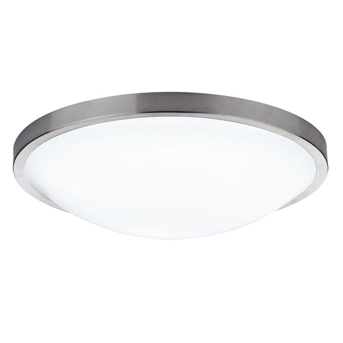 Dover Round Acrylic Flush IP44 Satin Chrome