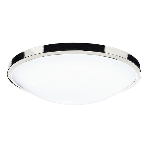 Dover Round Acrylic Flush IP44 Polished Chrome