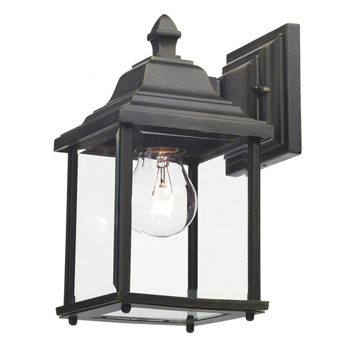 Doyle Wall Bracket Lantern Black Gold