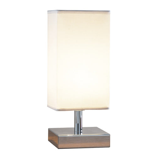 Drayton Touch Table Lamp Polished Chrome complete with Shade
