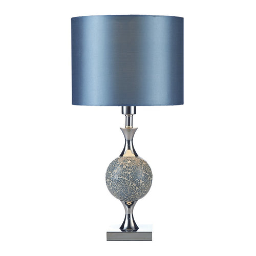 Australia gold coast lightinguk elsa table lamp blue mosaic complete with shade aloadofball Choice Image