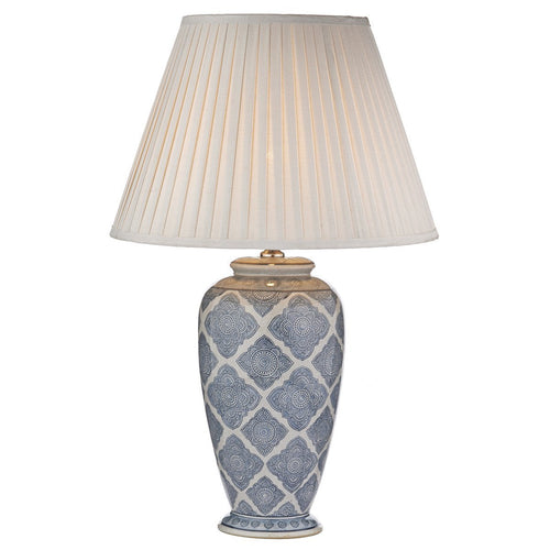 Ely Table Lamp Blue/White Base Only