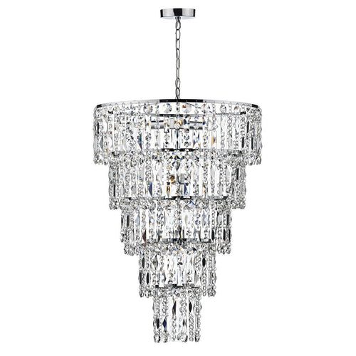 Escala 6 Light Round Crystal Pendant