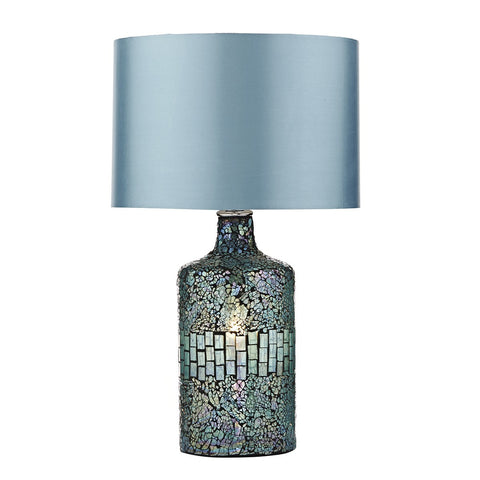 Clear recycled glass table lamp with fitting lightinguk guru blue table lamp with shade aloadofball Choice Image