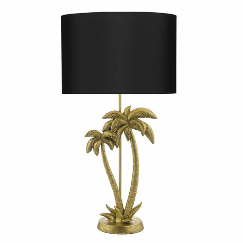 Hachi Table Lamp Gold Palm Tree complete with Shade