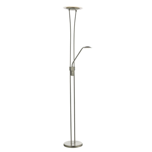 Hahn Floor Lamp Satin Nickel LED