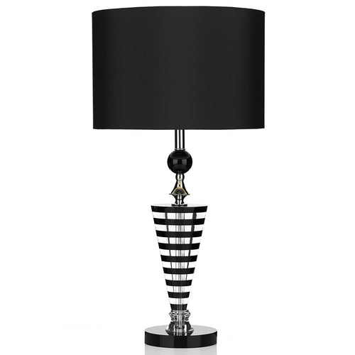 Hudson Table Lamp K9 Crystal Black/ Clear complete with Shade