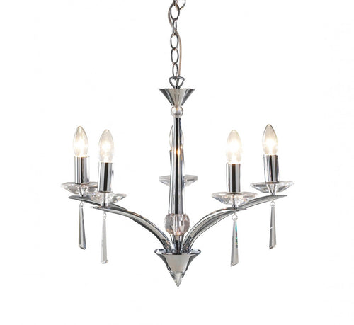 Hyperion 5 Light Dual Mount Pendant Polished Chrome
