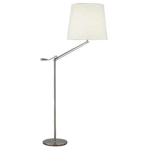 Infusion Floor Lamp Satin Chrome complete with Shade