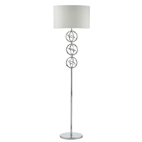 Innsbruck Floor Lamp Polished Chrome complete with Shade