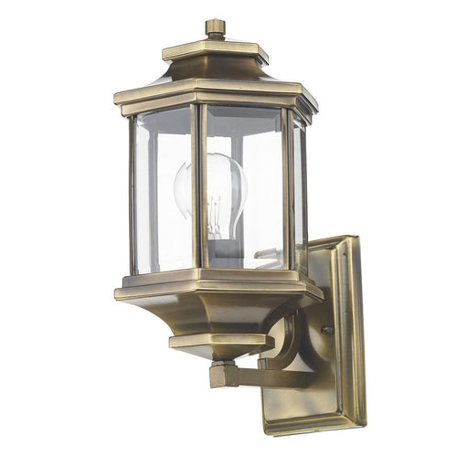 Ladbroke Lantern Antique Brass complete with Bevelled Glass