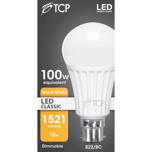TCP 15w Opal LED GLS (Dimmable)