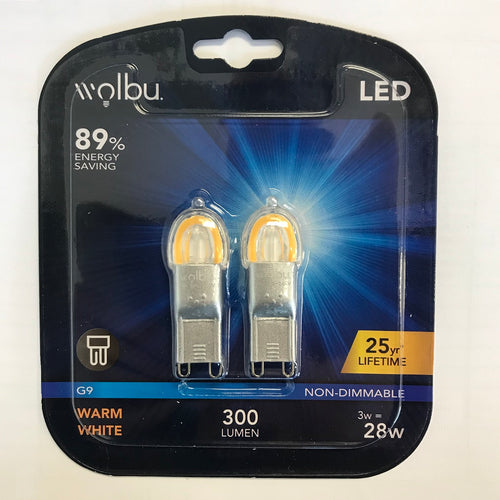 Wolbu 3w LED G9 Twin Pack