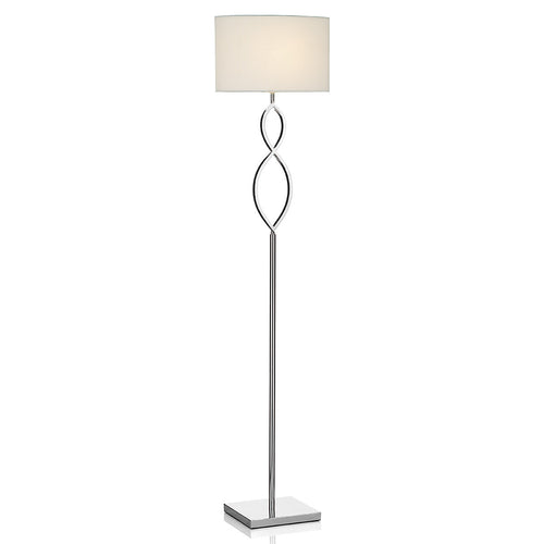 Luigi Floor Lamp Polished Chrome complete with Shade