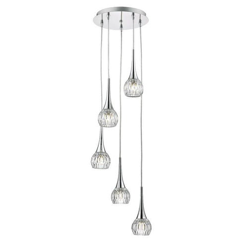 Lyall 5 Light Pendant Polished Chrome