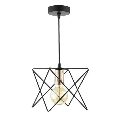 Midi 1 Light Pendant Black / Copper