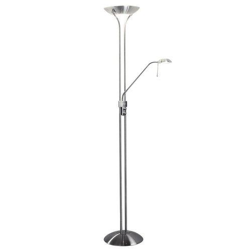 Montana Floor Lamp Satin Chrome