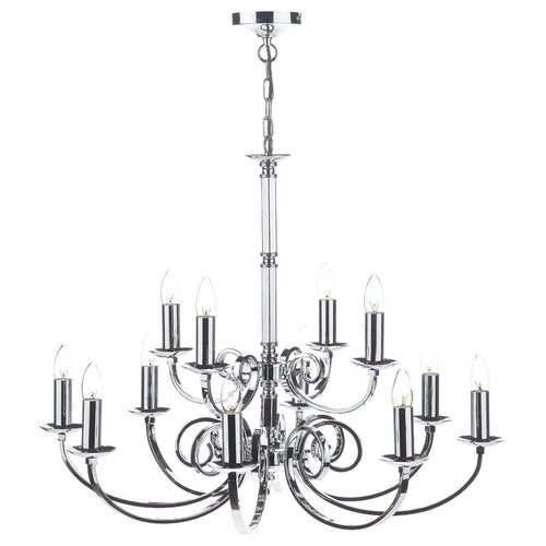 Murray 12 Light Dual Mount Pendant Polished Chrome