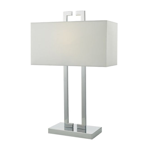 Nile Table Lamp Polished Chrome complete with Shade