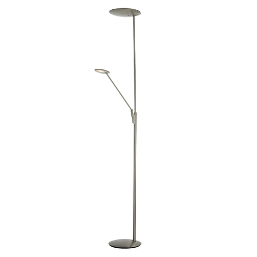 Oundle Flstd Mother And Child Satin Nickel Led
