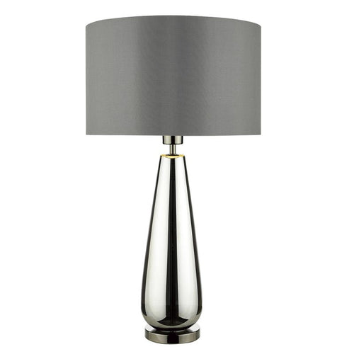 Pablo Table Lamp Black Chrome Glass complete with Shade