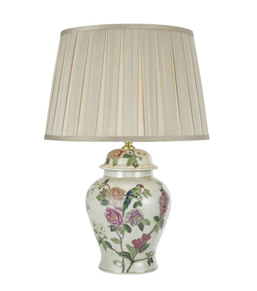 Peony Table Lamp Green Pink Base Only