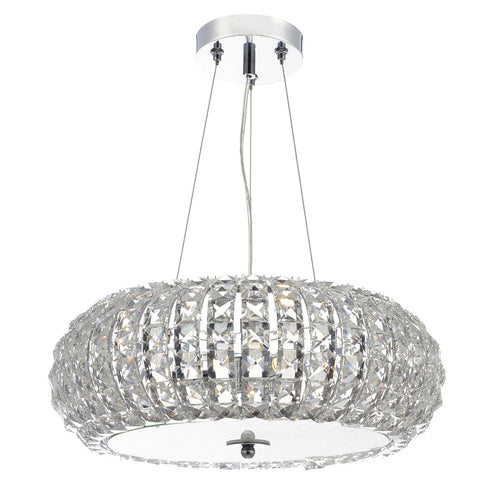 Piazza 3 Light Pendant K9 Crystal Clear